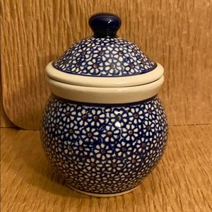 Boleslawiec Polish Pottery Jar with Lid